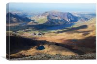 Snowdon Views, Canvas Print