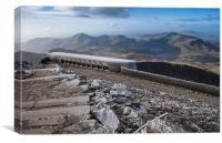 The Summit of Snowdon, Canvas Print