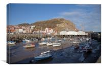 Scarbourough Sea Front and Beach, Canvas Print