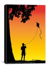 Childhood dreams, The Kite, Canvas Print