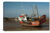 Whitby Crest at Brancaster Staithe, Canvas Print