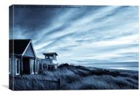 Evening at Snettisham beach, Canvas Print
