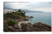 Playa Carabeo, Nerja, Canvas Print