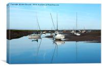 Reflections at Brancaster Staithe, Canvas Print