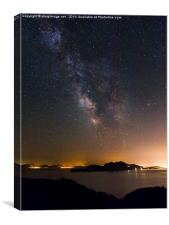 Milky Way over Mallorca, Canvas Print