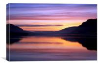Ullswater dawn, Canvas Print