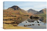 Reflections of Wast Water, Canvas Print
