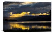 Early morning storm clouds over Loch Tay, Canvas Print