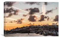 Sky over Ramsgate harbour., Canvas Print