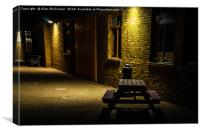 Quite place on a cold night, Canvas Print