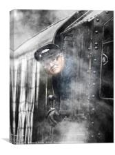 The Train Driver, Canvas Print