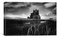 Gothic Abbey, Canvas Print
