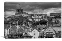 Whitby Roof tops looking towards east cliff, Canvas Print