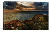 View of Skomer Island., Canvas Print