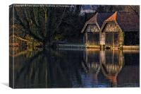 Mill End (near Hambleden, Bucks.) reflections., Canvas Print