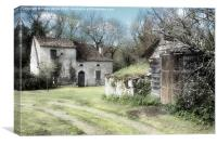 St Cernin de Labarde farm buildings., Canvas Print