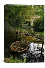 Abandoned Coracle, Canvas Print
