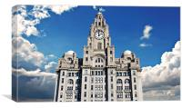 Liver Buildings on Liverpool waterfront, Canvas Print