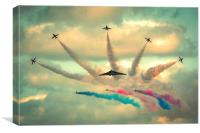 Red Arrows and AVRO Vulcan XH558 flypast, Canvas Print