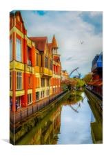 Lincoln's waterside , Canvas Print