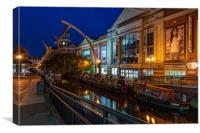 Waterside, Lincoln, Canvas Print