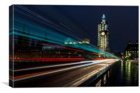 Big Ben and the rush hour, Canvas Print