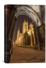 Lincoln Cathedral at night, Canvas Print