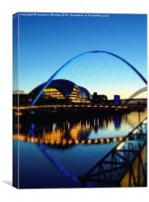 Sunset on The River Tyne, Canvas Print