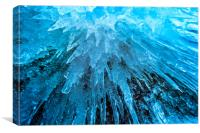 Ice Stalactites, Canvas Print