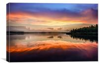 Sunset Symmetry, Canvas Print