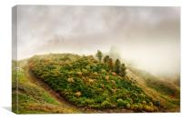 Autumn valley in the cloud, Canvas Print