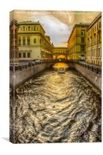 Swan Canal in St. Petersburg, Canvas Print