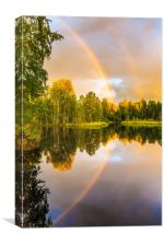 Rainbows: The gift from heaven to us all, Canvas Print