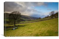 North from Kettlewell to Cross Fields, Canvas Print