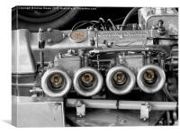 Coventry Climax Racing Engine, Canvas Print