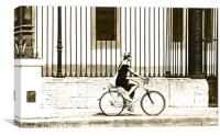 Girl on a bicycle, Canvas Print