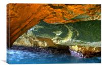 Rosh HaNikra Grottoes, Canvas Print