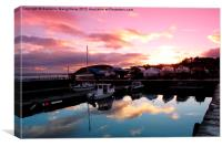 Reflections at Avoch Harbour  , Canvas Print