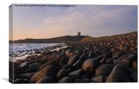 Early Morning at Dunstanburgh Castle, Canvas Print