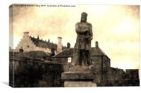 William Wallace Statue At Stirling Castle, Canvas Print