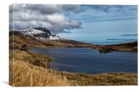 Distant view of Old Man of Storr, Canvas Print