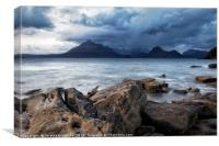 Storm over Cuillin mountains, Canvas Print