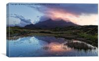 Sunset over Cuillins, Canvas Print