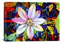 Bejewelled Clematis I, Canvas Print