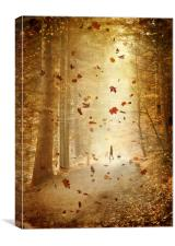 Autumn stroll, Canvas Print