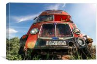 Double Decker Bus, Canvas Print