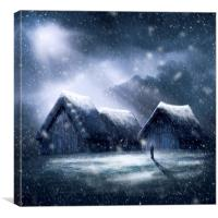 Going Home for Christmas, Canvas Print