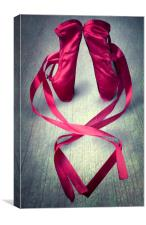 Ballet Shoes, Canvas Print