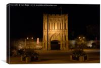 Abbey Gate at night in Bury St Edmunds, Canvas Print