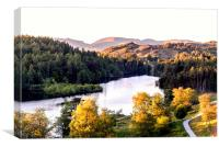 Sunset approaches over Tarn Hows, Canvas Print